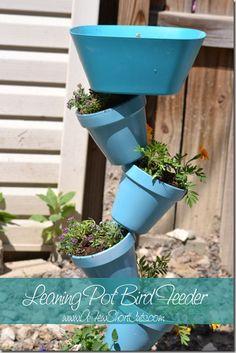 leaning pot bird fee