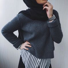 Image de hijab, style, and muslim Hijab Casual, Hijab Outfit, Hijab Chic, Hijab Fashion Casual, Hijab Fashion 2016, Modest Fashion, Girl Fashion, Winter Mode Outfits, Winter Fashion Outfits