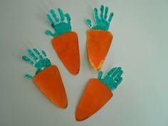 Handprint crafts for kids Kids Crafts, Daycare Crafts, Toddler Crafts, Easter Crafts, Easter Activities, Toddler Activities, Spring Crafts, Holiday Crafts, Carrot Craft