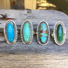 NAVAJO TURQUOISE RING BOHEMIAN JEWELLERY FESTIVAL INDIE AND HARPER