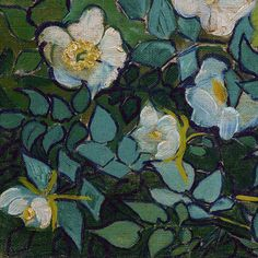 Wild Roses (detail) by Vincent van Gogh | Lone Quixote