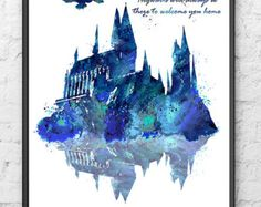 Hogwarts Castle Harry Potter Hogwarts Painting by gingerkidsart