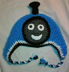 thomas the train beanie~omg my little man would love this, now 2 find somebody that can make it?!!!