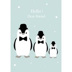 Affiche Pingouins