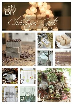DIY: 10 Christmas Gifts You Can Make - this post has some really great gifts you can make yourself!