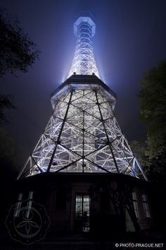 Petřín lookout tower at night, Prague Lookout Tower, Bratislava Slovakia, Prague Czech Republic, Heart Of Europe, Central Europe, Homeland, Vienna, Places To See, Cities