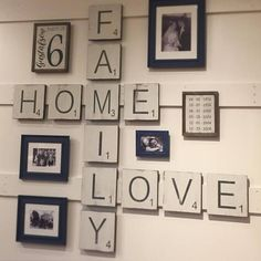 Large Letter Tiles for the wall . Home Decor . Gallery Wall . Scrabble Tiles for the wall