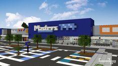 Masters Home Improvement in Braybrook, Victoria [Pop Reel] Minecraft Map Minecraft City Buildings, Minecraft Structures, Minecraft Banners, Minecraft Room, Minecraft Decorations, Minecraft Blueprints, Minecraft Projects, Minecraft Crafts, Minecraft Houses