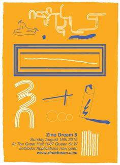 "patrickkyleillustration: "" Poster/Hand Flyer for Zine Dream 8 www.zinedream.com """
