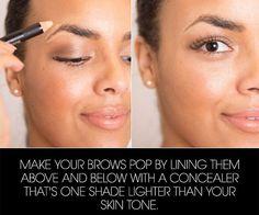 concealer-around-eyebrows-hacks
