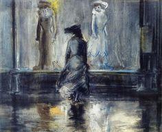 Everett Shinn, Window Shopping, 1903