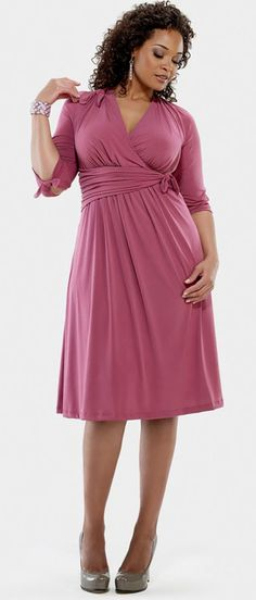 Plus Size Clothing for Canadian Women...if being Canadian means I get this super cute dress, sign me up eh!