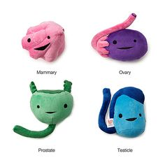 """Plush reproductive organs! They suggest purchasing these for giving 'the talk' or to give to someone going through a surgery. """"Hey Mom sorry to hear about the hysterectomy. Here's a plush uterus to replace it."""" My mother would have ripped it apart and thrown the bits at me."""