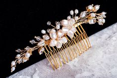 Pearl and crystal #bridal #headpiece  || made by hand in the Hunter Valley Australia  www.allaboutromance.com.au