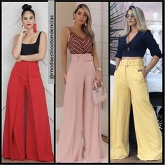 Fashion Pants, Fashion Outfits, Womens Fashion, Chiffon Evening Dresses, Casual Looks, Jumpsuit, Clothes, Diy, Style