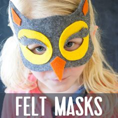 Halloween Felt Animal Masks #fall #kidscraft