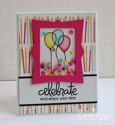 A Paper Melody: Birthday Bash Shaker Card