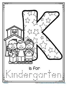 Letter K is for Kindergarten Trace and Color... by KidSparkz | Teachers Pay Teachers Back To School Activities, Kindergarten Activities, Home Learning, Early Learning, Alphabet Tracing, Preschool Graduation, Letter K, Preschool Letters, Printable Letters