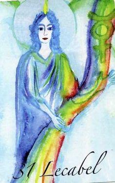 "(31) LECABEL (Kabbalistic angel) 23-28 August,provides essence of: Operative Talent. (ángel Cabalístico) 23-28 agosto, aporta esencia de: Talento Resolutivo. Deck: ""Le Carte degli Angeli"" Artist: Oliwka Neugebauer Angel Drawing, Names Of God, Tarot, Disney Characters, Fictional Characters, Aurora Sleeping Beauty, Disney Princess, Drawings, Painting"