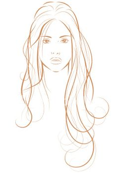 woman with long hair Royalty Free Stock Vector Art Illustration