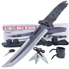 BK2091 Ultimate Ninja Warrior Tanto Knife & Spikes with Sheath…