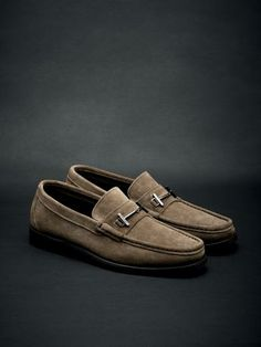 Suede #loafers with horsebit and half rubber soles. #fw13 #men #accessories