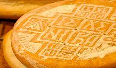 Eastern Orthodox Prosphora Bread - πρόσφορον - ✮ The Food Dictator ✮ Greek Bread, Vegan Recipes, Cooking Recipes, Vegan Meals, Macedonian Food, Hot Dog Buns, Holi, Good Food, Food And Drink