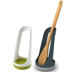 Joseph Joseph Joseph Joseph Spoon Rest: This simple but effective product provides a convenient place to rest cooking utensils during use, helping to keep work surfaces cleaner and more hygienic. The design which saves space on the work top and allows any mess to drain down into the sturdy non-slip base. Spoon not included.