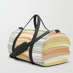 Earth color strokes Duffle Bag