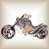 Tribal Motorcycle Tattoo Designs