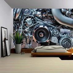 Image result for car engine wall
