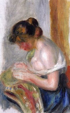 The Athenaeum - The Seamstress (Pierre Auguste Renoir - )