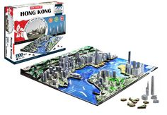 This Cityscape Time Puzzle - Hong Kong, China recreates Hong Kong's world famous skyline, not only in three-dimension, using scale-model buildings, but also along the fourth dimension of time - spanning 98 years of architectural history. International Commerce Centre, Travel Baby Showers, Fourth Dimension, Model Building, Baby Clothes Shops, Baby Shop, Hong Kong, Skyscraper, Jigsaw Puzzles