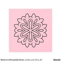 Metal art with mandala Drawing Mandala Drawing, Metal Art, Photo Art, Drawings, Prints, Design, Sketches, Metal Yard Art, Drawing