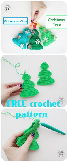 Christmas and Valentine Mickey Mouse crochet patterns Crochet Tree, Crochet Christmas Ornaments, Christmas Minis, Knit Or Crochet, Crochet Dolls, Christmas Crafts, Xmas, Diy Crochet Patterns, Crochet Projects