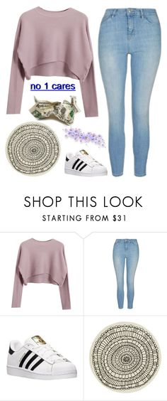 """""""Untitled #117"""" by chill-outfits ❤ liked on Polyvore featuring Chicnova Fashion, Topshop, adidas and CB2"""