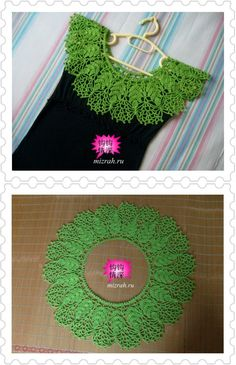 Crochet yoke inspiration, this is just an elaborate piece crocheted in the round! Nice...