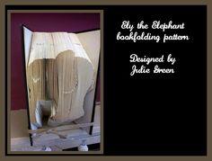 Ely the elephant by Bookfoldanddecoupage on Etsy