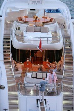 Luxury super yacht-I've had dreams about sunning on a bed like this in the French Rivera!