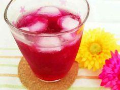 リンゴ酢で作る♪赤しそジュースの画像