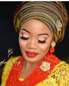 #asoebi #asoebispecial #speciallovers #wedding  Asooke and beads @tradmason @glam_drop