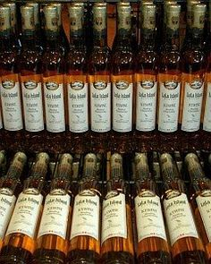 Come sample some of LuLu Island's ice wines! Whiskey Bottle, Wines, Tours