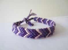 Lilac Chevron Braided Bracelet by beausbitsandbobs on Etsy http://www.etsy.com/treasury/MjAwOTQ5NDF8MjcyMzEwNjUyNg/open-all-welcome-no-minimum-random-bns?ref=pr_treasury