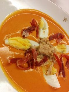 Delicious soup @ Parador in Malaga, Spain