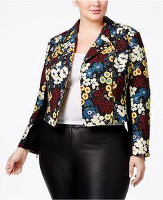 330918797c6 Rachel Rachel Roy Trendy Plus Size Printed Moto Jacket