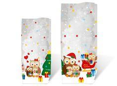 10 Geschenk-Bodenbeutel Eule 14,5 x 23,5 cm