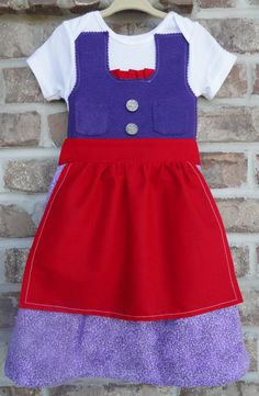READY TO SHIP 24 Month 2T Red And Purple Dirndl Dress By Adasaccessories4me On Etsy
