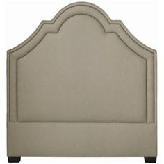 Interiors - Beds Twin-Size Madison Crown Top Upholstered Headboard by Bernhardt - Belfort Furniture - Headboard Washington DC, Northern Virginia (NoVA), Maryland, and Dulles, VA