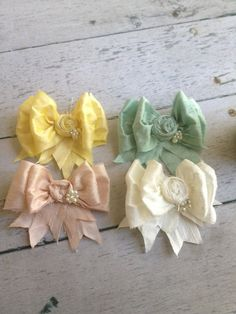 Macaroon Silk Bows by CozetteCouture on Etsy, $17.99