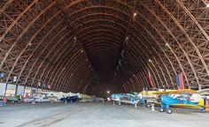 the largest clear span wooden structure in the world..WW2 Blimp Hangar in Tillamook Oregon